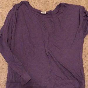 Long sleeve light weight heather purple tee